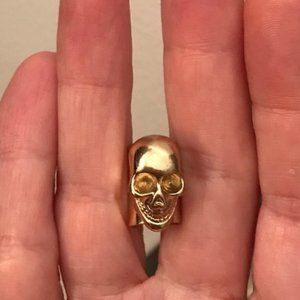 Gold Skull Ear Cuff Earring Boutique NEW Varvatos